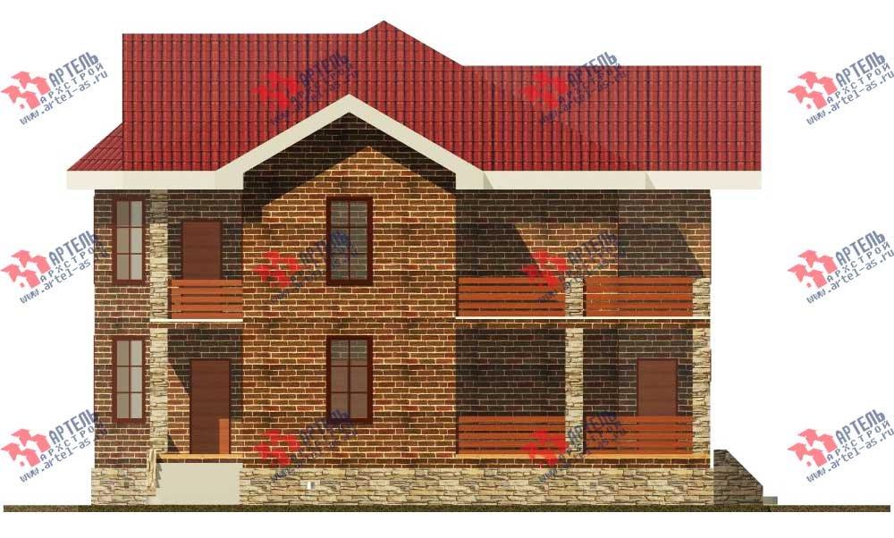двухэтажный дом из камня площадью свыше 200 кв. м. с  балконом, террасой, эркером, проект Вариант 11 фотография 551