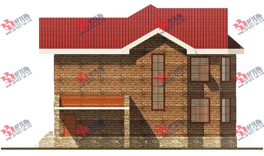 двухэтажный дом из камня площадью свыше 200 кв. м. с  балконом, террасой, эркером, проект Вариант 11 фотография 553