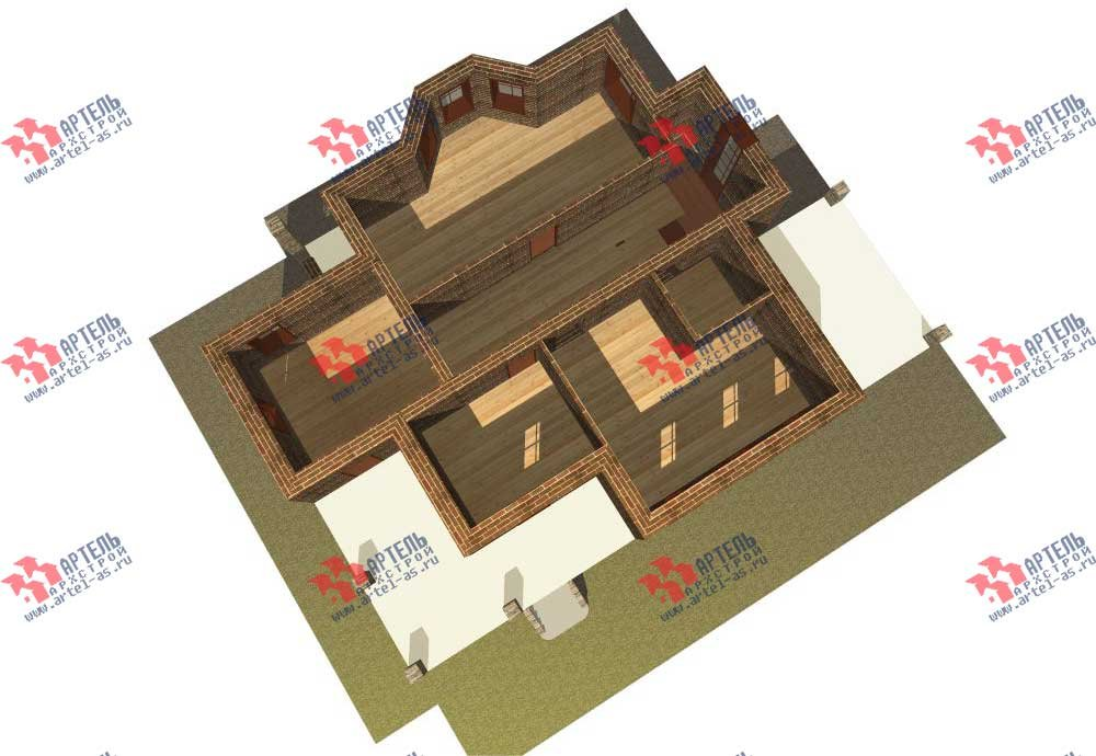 двухэтажный дом из камня площадью свыше 200 кв. м. с  балконом, террасой, эркером, проект Вариант 11 фотография 555
