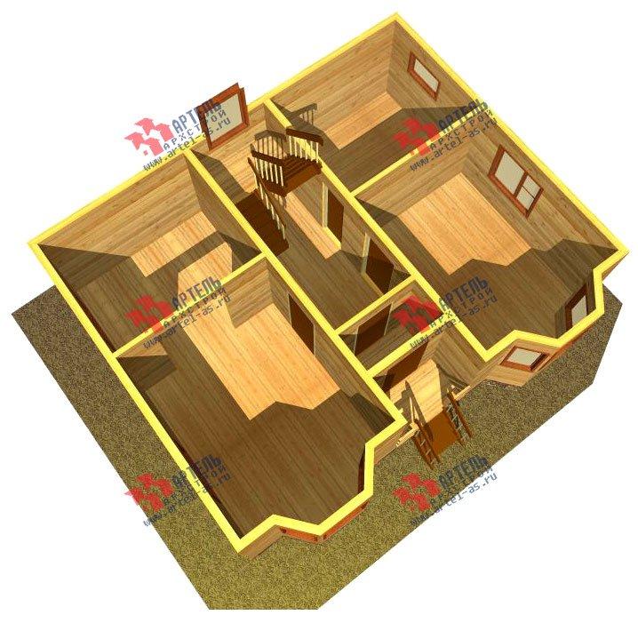 двухэтажный дом из бруса площадью от 100 до 150 кв. м. с  мансардой, эркером, проект Вариант 7 Б фотография 918