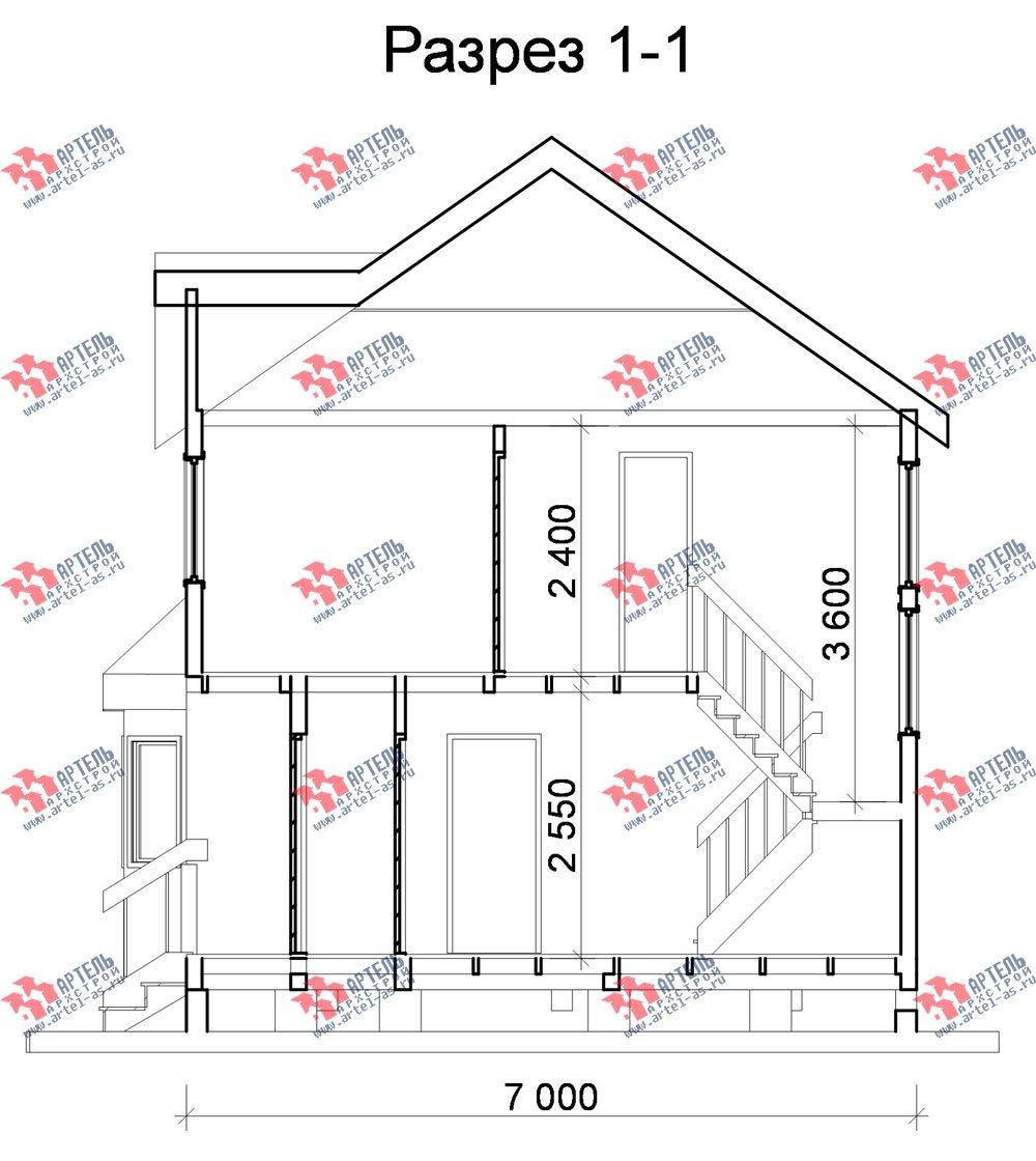 двухэтажный дом из бруса площадью от 100 до 150 кв. м. с  мансардой, эркером, проект Вариант 7 Б фотография 920