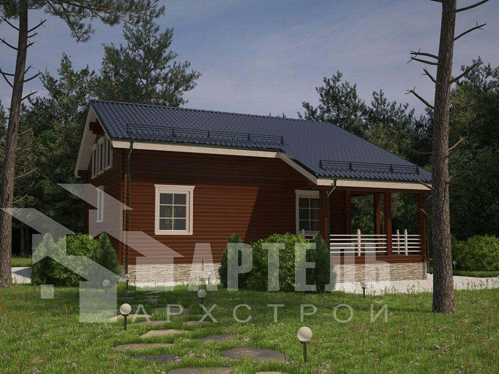 двухэтажный дом из профилированного бруса площадью свыше 200 кв. м. с  балконом, мансардой, террасой, проект Вариант 11 П фотография 4236