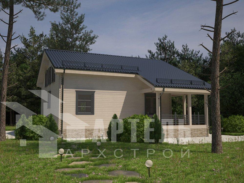 двухэтажный дом из профилированного бруса площадью свыше 200 кв. м. с  балконом, мансардой, террасой, проект Вариант 11 П фотография 4242