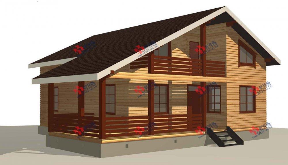 двухэтажный дом из профилированного бруса площадью свыше 200 кв. м. с  балконом, мансардой, террасой, проект Вариант 11 П фотография 3766