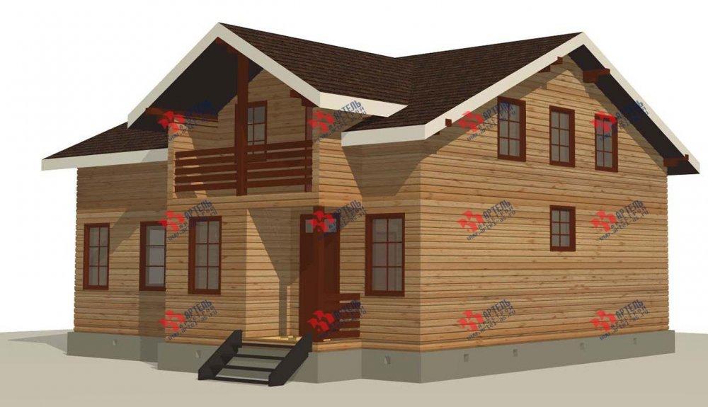 двухэтажный дом из профилированного бруса площадью свыше 200 кв. м. с  балконом, мансардой, террасой, проект Вариант 11 П фотография 3767