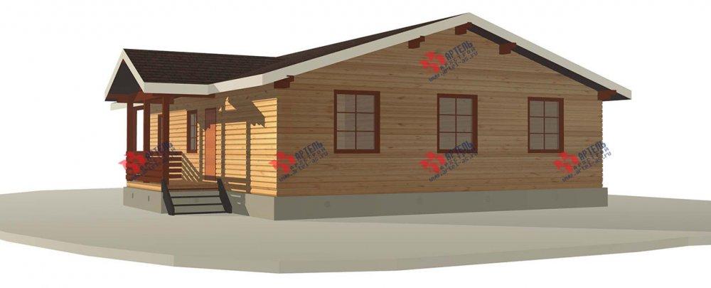 одноэтажный дом из профилированного бруса площадью от 100 до 150 кв. м. с  террасой, проект Вариант 12.4 Б фотография 3957