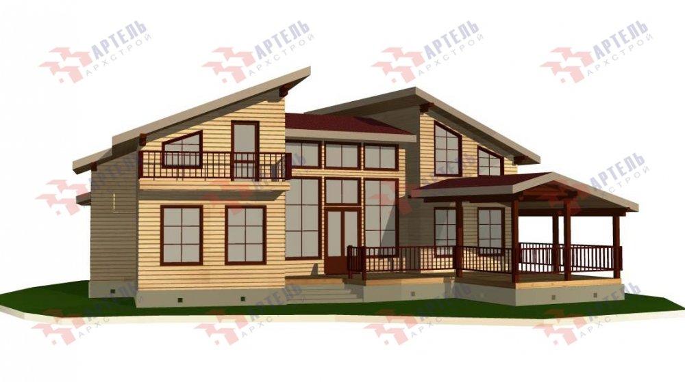 двухэтажный дом из профилированного бруса площадью свыше 200 кв. м. с  террасой, проект Вариант 12.4 В фотография 4899
