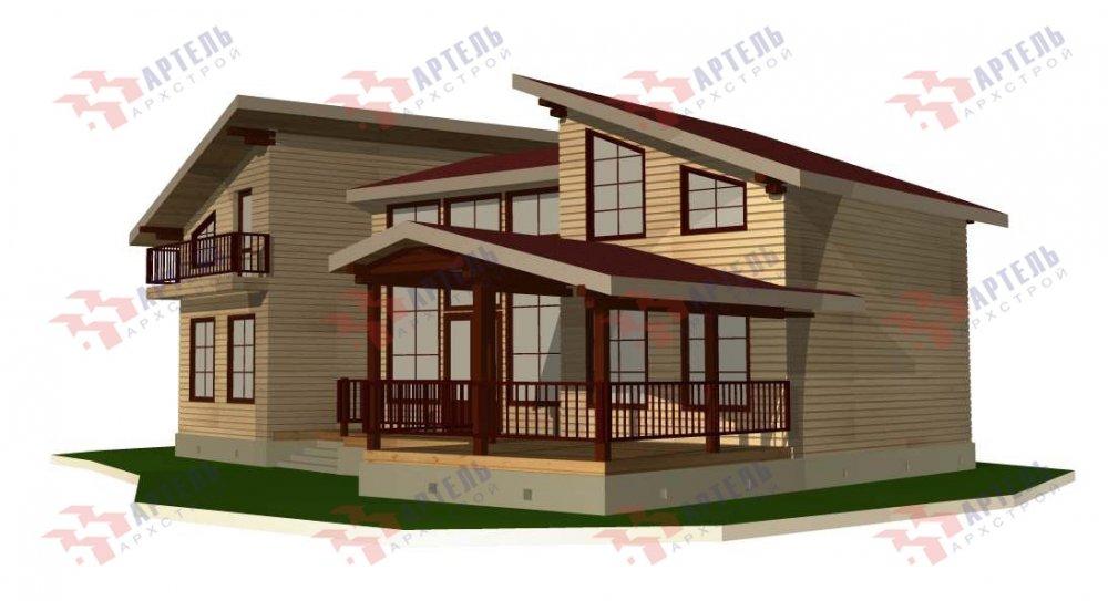 двухэтажный дом из профилированного бруса площадью свыше 200 кв. м. с  террасой, проект Вариант 12.4 В фотография 4900