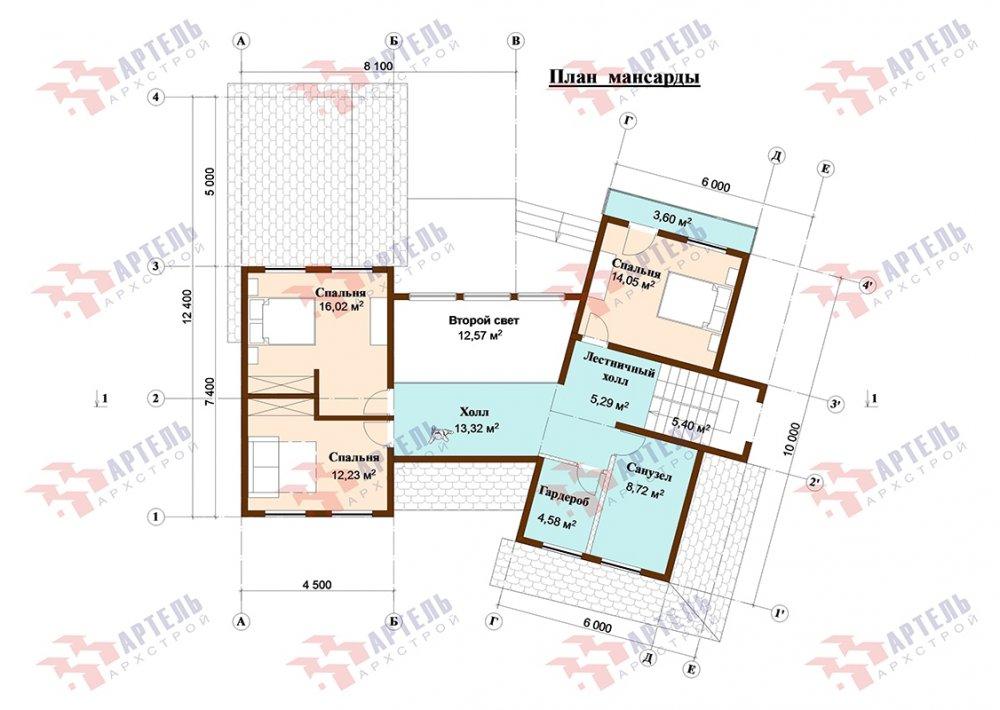 двухэтажный дом из профилированного бруса площадью свыше 200 кв. м. с  террасой, проект Вариант 12.4 В фотография 4902