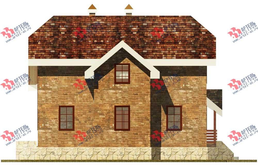 двухэтажный дом из камня площадью от 150 до 200 кв. м. с  террасой, эркером, проект Вариант 12 фотография 561