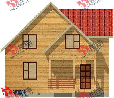 двухэтажный дом из бруса площадью от 100 до 150 кв. м. с  верандой, мансардой, эркером, проект Вариант 8 Е фотография 1034