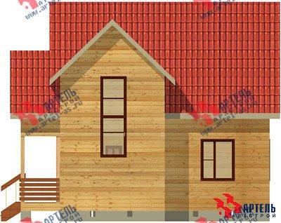 двухэтажный дом из бруса площадью от 100 до 150 кв. м. с  верандой, мансардой, эркером, проект Вариант 8 Е фотография 1035