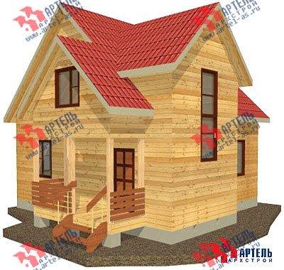 двухэтажный дом из бруса площадью от 100 до 150 кв. м. с  верандой, мансардой, эркером, проект Вариант 8 Е фотография 1033