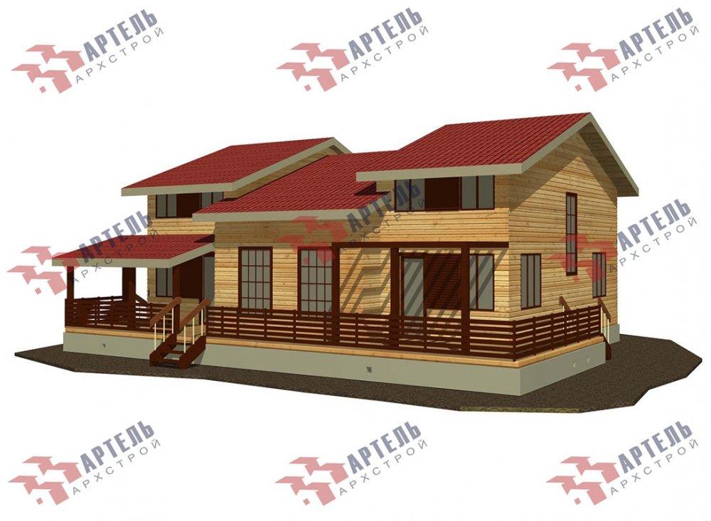 двухэтажный дом из профилированного бруса площадью свыше 200 кв. м. с  верандой, мансардой, проект Вариант 13.7 А фотография 4625