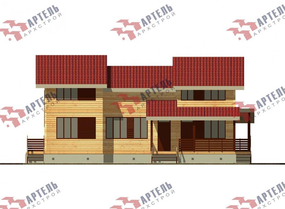 двухэтажный дом из профилированного бруса площадью свыше 200 кв. м. с  верандой, мансардой, проект Вариант 13.7 А фотография 4628
