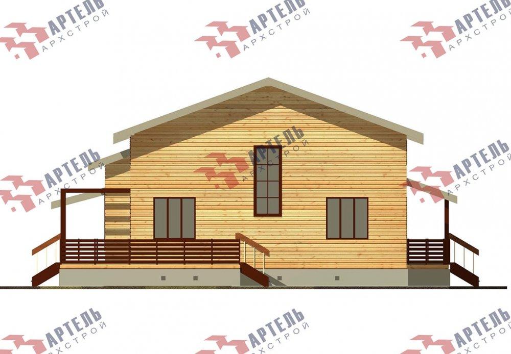 двухэтажный дом из профилированного бруса площадью свыше 200 кв. м. с  верандой, мансардой, проект Вариант 13.7 А фотография 4630