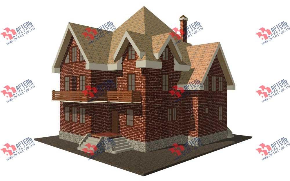 трёхэтажный дом из камня площадью свыше 200 кв. м. с  балконом, мансардой, эркером, проект Вариант 13 фотография 569