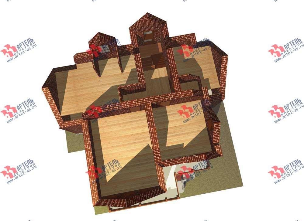 трёхэтажный дом из камня площадью свыше 200 кв. м. с  балконом, мансардой, эркером, проект Вариант 13 фотография 575