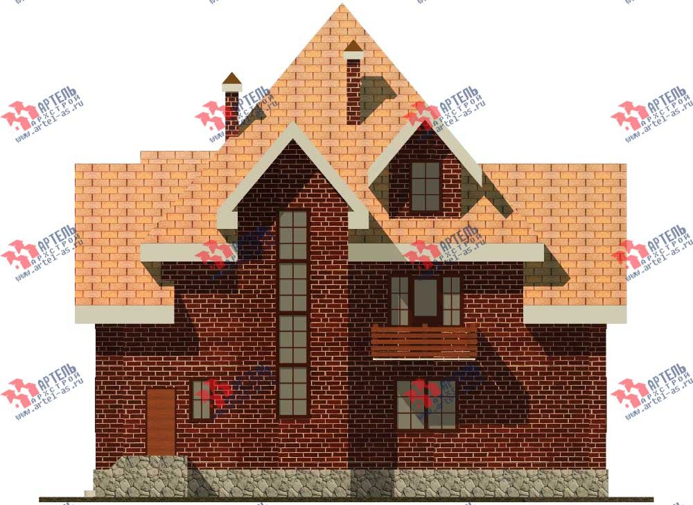 трёхэтажный дом из камня площадью свыше 200 кв. м. с  балконом, мансардой, эркером, проект Вариант 13 фотография 570