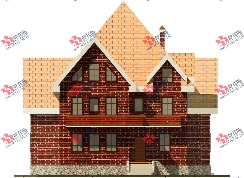 трёхэтажный дом из камня площадью свыше 200 кв. м. с  балконом, мансардой, эркером, проект Вариант 13 фотография 571