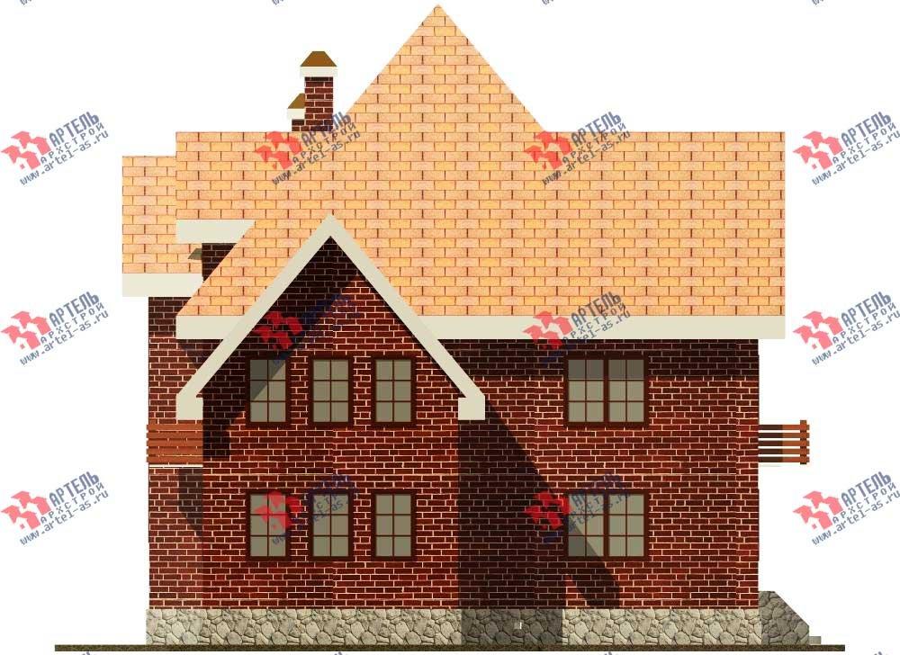 трёхэтажный дом из камня площадью свыше 200 кв. м. с  балконом, мансардой, эркером, проект Вариант 13 фотография 572