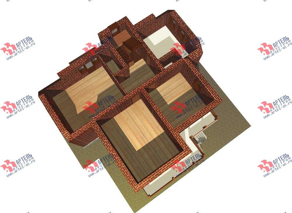 трёхэтажный дом из камня площадью свыше 200 кв. м. с  балконом, мансардой, эркером, проект Вариант 13 фотография 574