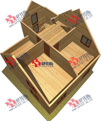 двухэтажный дом из бруса площадью от 100 до 150 кв. м. с  верандой, мансардой, эркером, проект Вариант 8 Е фотография 1039