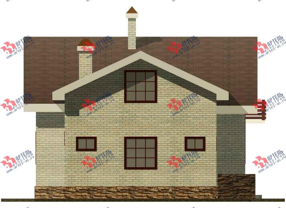 двухэтажный дом из камня площадью от 150 до 200 кв. м. с  балконом, эркером, проект Вариант 14 фотография 582
