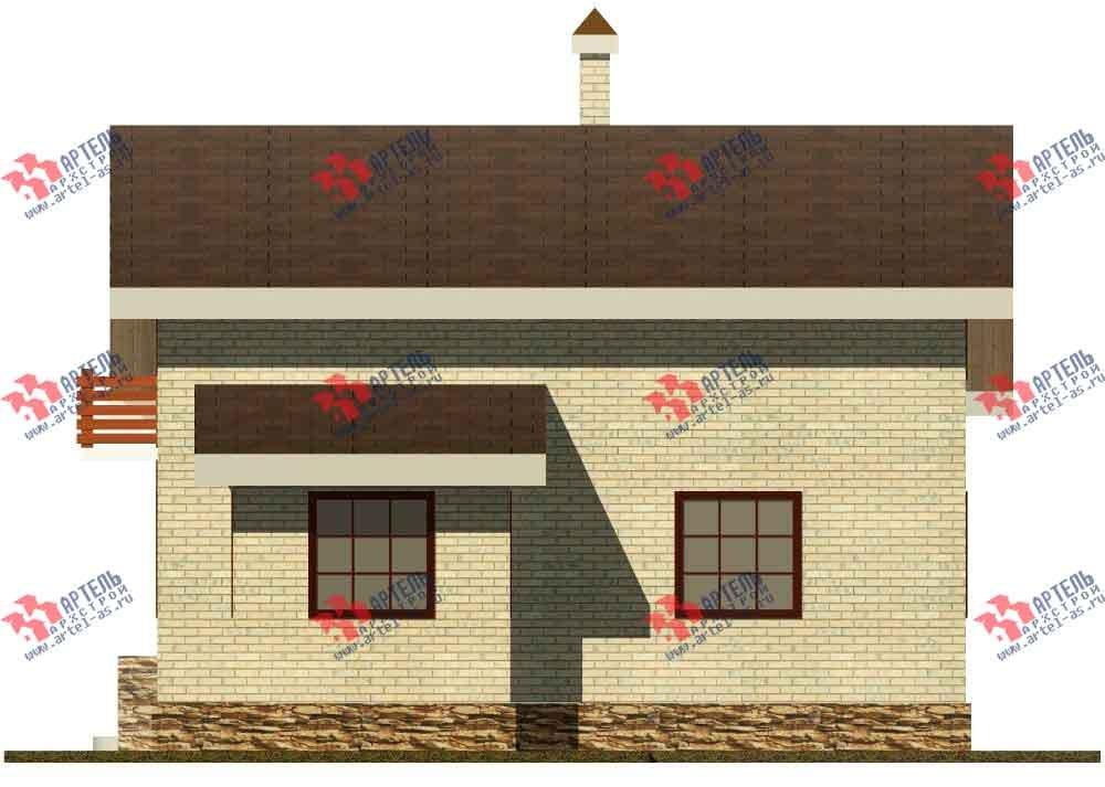 двухэтажный дом из камня площадью от 150 до 200 кв. м. с  балконом, эркером, проект Вариант 14 фотография 584