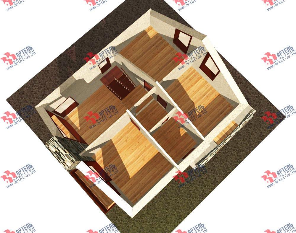двухэтажный дом из камня площадью от 150 до 200 кв. м. с  балконом, проект Вариант 15 фотография 597