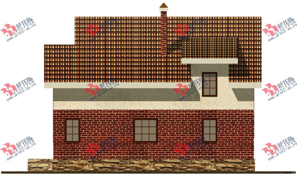 двухэтажный дом из камня площадью свыше 200 кв. м. с  балконом, террасой, проект Вариант 16 фотография 606