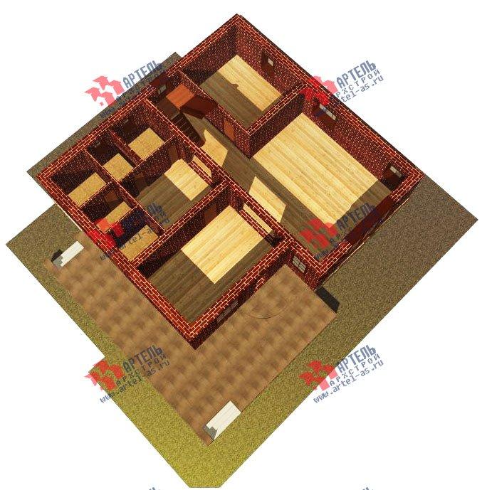 двухэтажный дом из камня площадью свыше 200 кв. м. с  балконом, террасой, проект Вариант 16 фотография 607