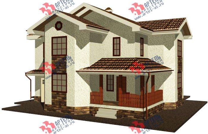 двухэтажный дом из камня площадью свыше 200 кв. м. с  эркером, проект Вариант 17 фотография 612