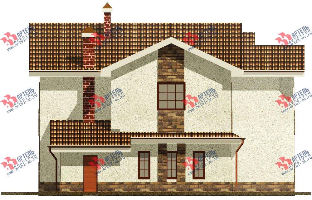двухэтажный дом из камня площадью свыше 200 кв. м. с  эркером, проект Вариант 17 фотография 615