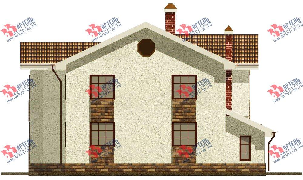 двухэтажный дом из камня площадью свыше 200 кв. м. с  эркером, проект Вариант 17 фотография 616