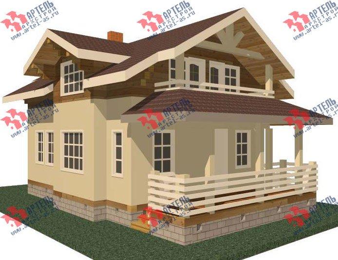 двухэтажный дом из профилированного бруса камерной сушки площадью от 100 до 150 кв. м. с  балконом, террасой, эркером, проект Вариант 9 фотография 2991