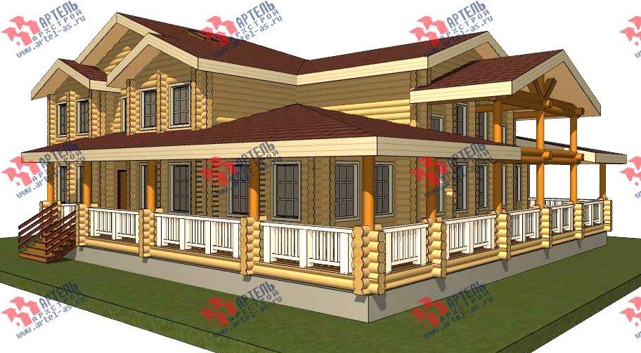 двухэтажный дом из оцилиндрованного бревна площадью свыше 200 кв. м. с  террасой, проект Вариант 8 фотография 3113