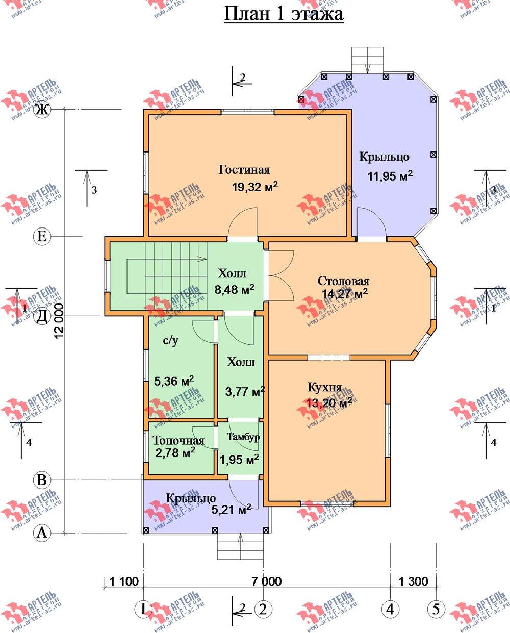 двухэтажный дом из бруса площадью от 150 до 200 кв. м. с  эркером, проект Вариант 11.2 В фотография 3162