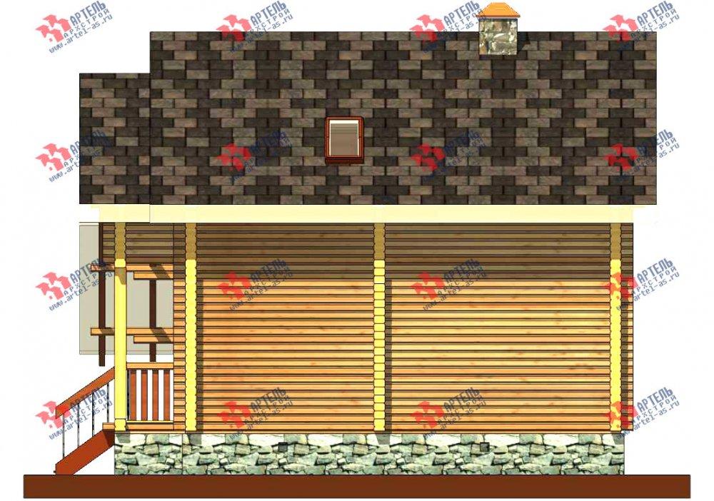 двухэтажный проект площадью от 100 до 150 кв. м. с  мансардой, террасой, проект Вариант 8.7 А фотография 3277