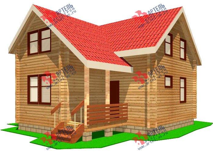 двухэтажный дом из профилированного бруса площадью от 100 до 150 кв. м. с  мансардой, эркером, проект Вариант 9 А фотография 230
