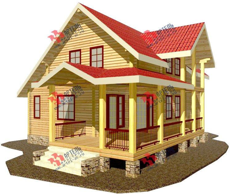 двухэтажный дом из профилированного бруса площадью от 150 до 200 кв. м. с  мансардой, террасой, проект Вариант 8.5 Л фотография 79