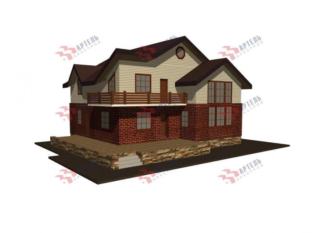 дом омбинированные дома, проект Вариант 12.6 А Комбинированный фотография 5521