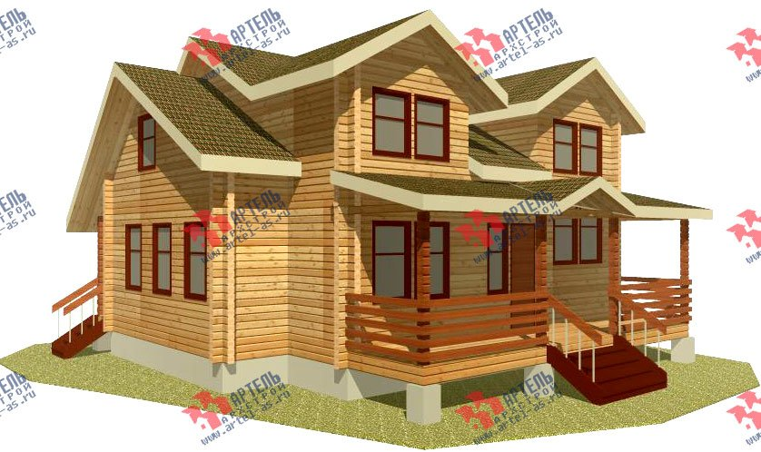 двухэтажный дом из профилированного бруса площадью от 150 до 200 кв. м., проект Вариант 9 О фотография 361