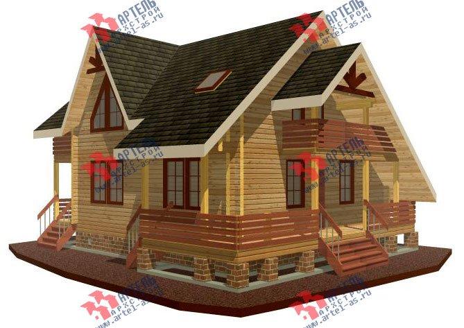 двухэтажный дом из профилированного бруса площадью от 150 до 200 кв. м. с  балконом, террасой, проект Вариант 7.7 А фотография 382