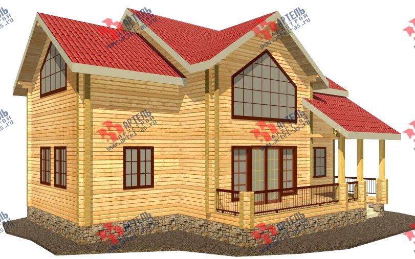 двухэтажный дом из профилированного бруса площадью от 150 до 200 кв. м. с  мансардой, террасой, проект Вариант 9.5 Т фотография 88