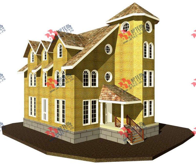 трёхэтажный дом из камня площадью свыше 200 кв. м. с  эркером, проект Вариант 20 фотография 644