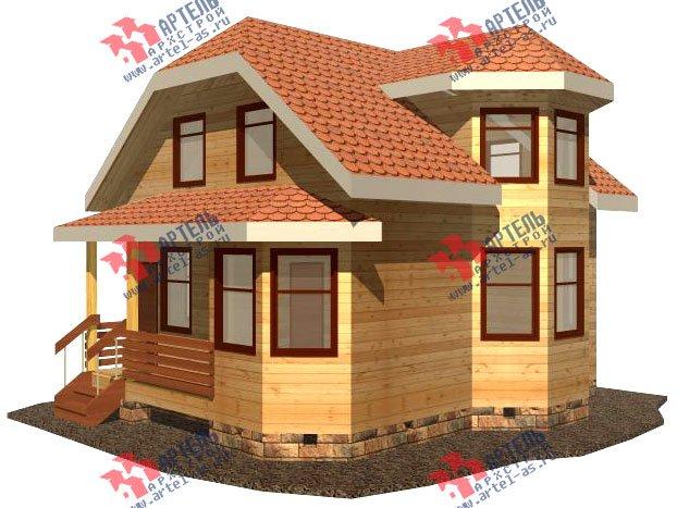 двухэтажный дом из бруса площадью до 100 кв. м. с  мансардой, эркером, проект Вариант 6.2 А фотография 710