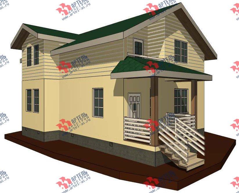 двухэтажный дом из профилированного бруса камерной сушки площадью от 100 до 150 кв. м. с  мансардой, проект Вариант 6 фотография 2786