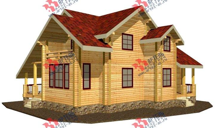 двухэтажный дом из бруса площадью свыше 200 кв. м. с  балконом, мансардой, проект Вариант 9.5 К-2 фотография 99