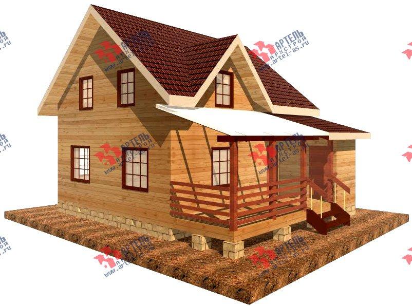 двухэтажный дом из профилированного бруса площадью от 100 до 150 кв. м. с  террасой, проект Вариант 7.2 А фотография 902